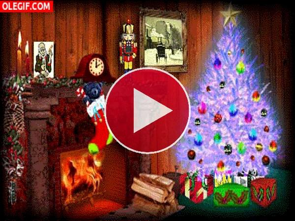 GIF: Estampa navideña