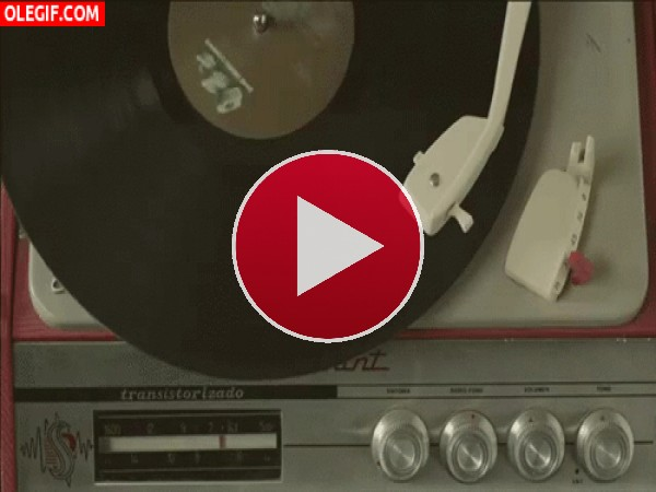 GIF: Un disco girando