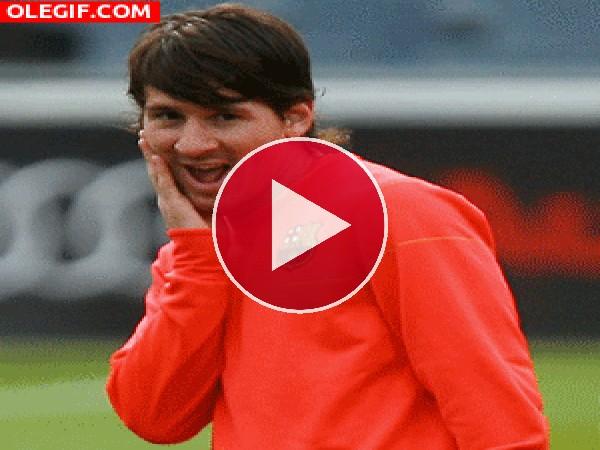 GIF: La cara bonita de Leo Messi