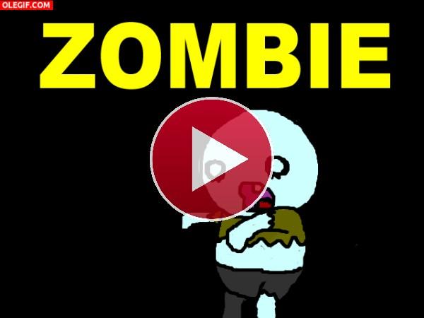 GIF: A este zombie le queda un solo diente