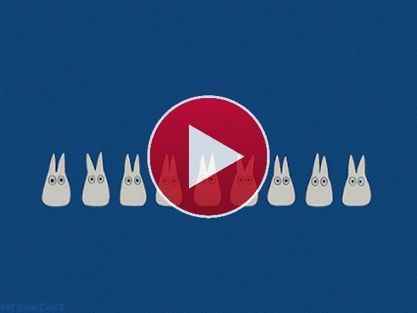 GIF: Totoro cantarín