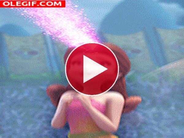 GIF: Una linda hada usando su magia