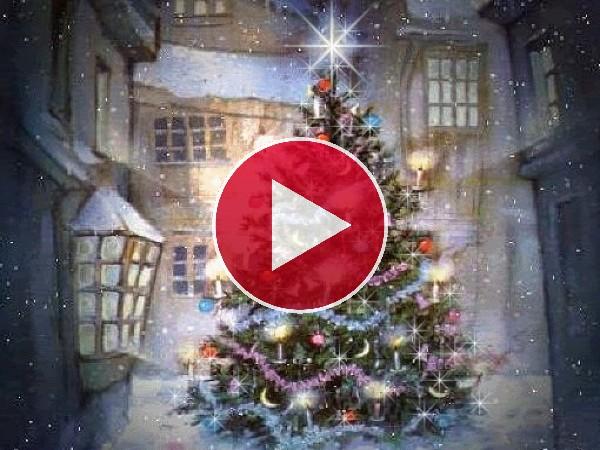 Un hermoso árbol de Navidad iluminado