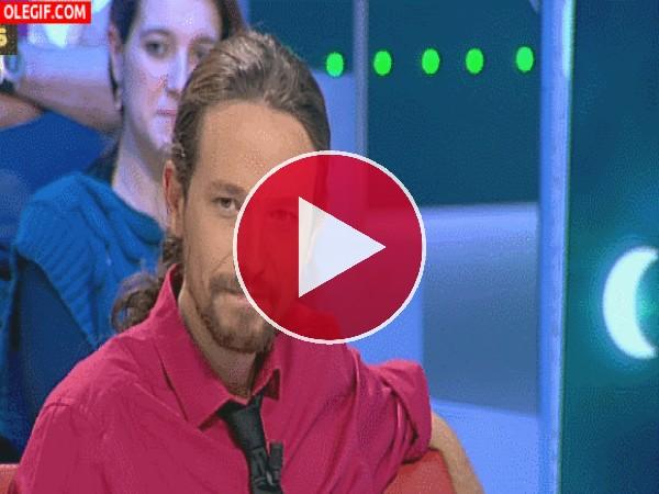 GIF: Pablo Iglesias en modo rapero