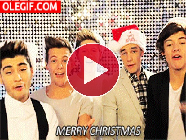 GIF: Los chicos de One Direction te desean ¡Feliz Navidad!