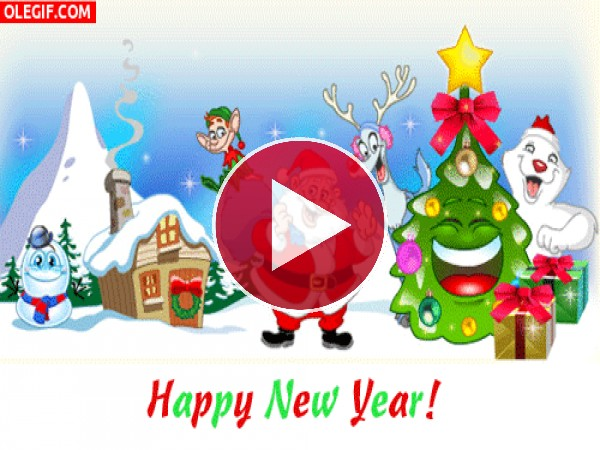 GIF: ¡Feliz Año Nuevo!