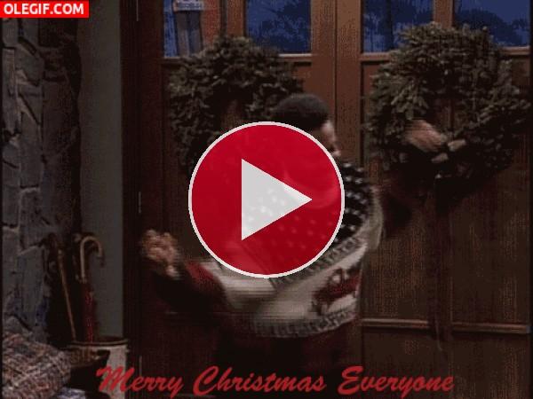 GIF: Carlton te desea Feliz Navidad