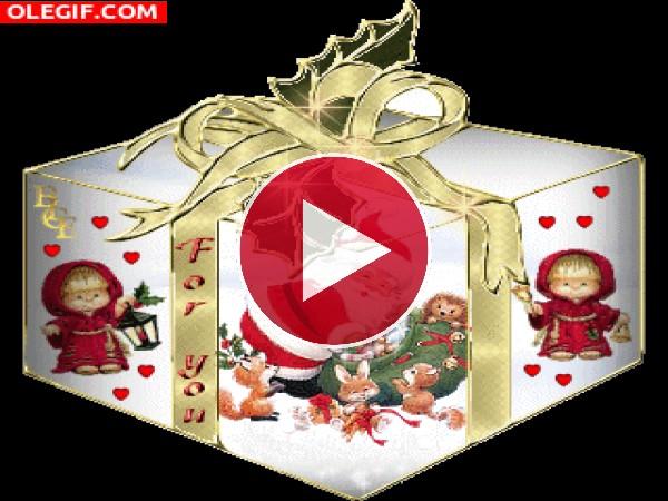 GIF: Un bonito regalo de Navidad