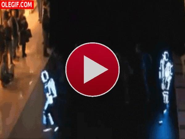 Una genial coreografía con trajes de luz