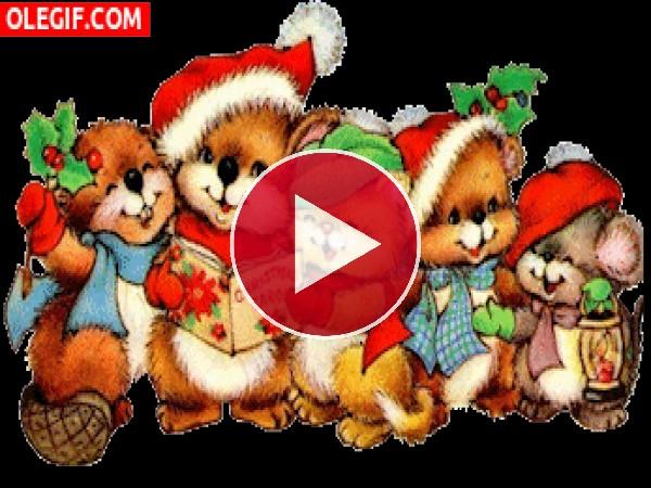 Ositos cantando en Navidad