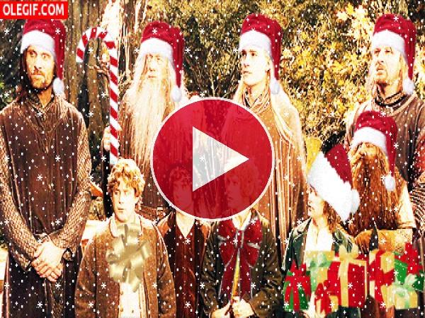 GIF: La comunidad del anillo te desea ¡Feliz Navidad!