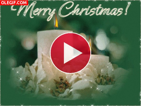 GIF: Velas encendidas por Navidad