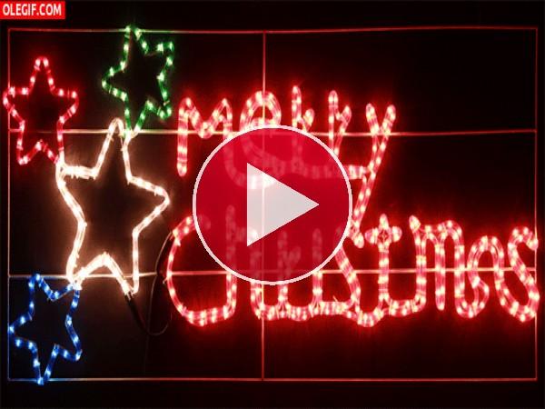 """GIF: Luces de """"Feliz Navidad"""""""