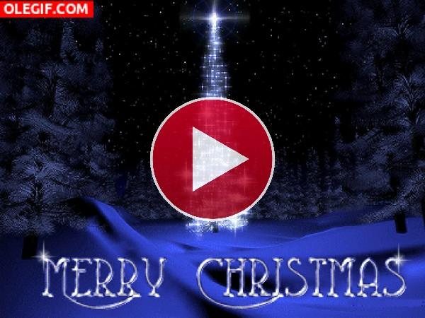 Bonita felicitación de Navidad