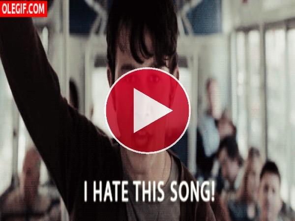 GIF: ¡Odio esta canción!