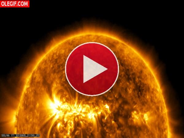 Venus pasando entre el Sol y la Tierra
