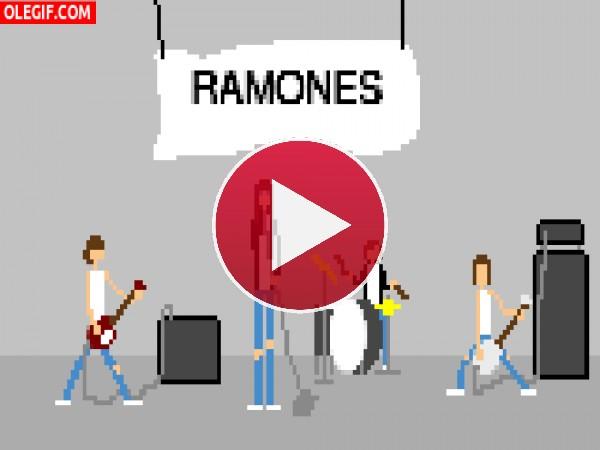 GIF: Ramones en movimiento
