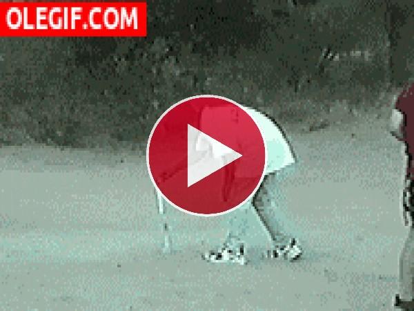 GIF: ¿Por qué agarró el perro ese petardo?