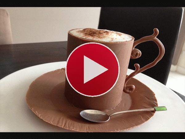 Una rica taza de chocolate