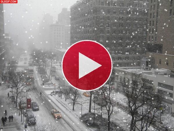 GIF: Nieva en Nueva York