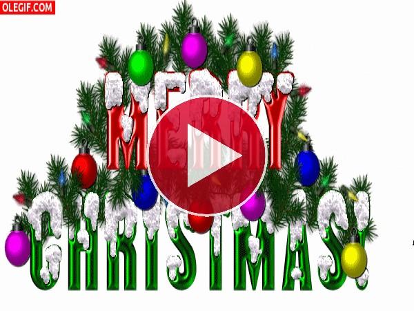 GIF: Feliz Navidad entre luces