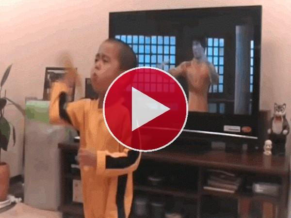 GIF: Un pequeño ninja