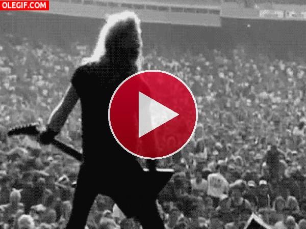 GIF: Concierto de Metallica