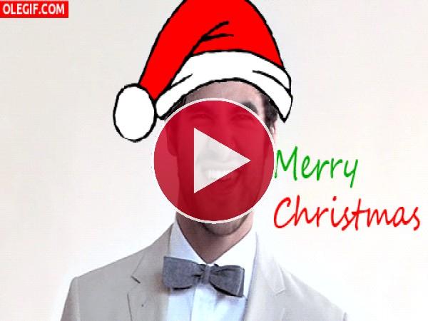 "GIF: Darren Criss te desea ""Feliz Navidad"""