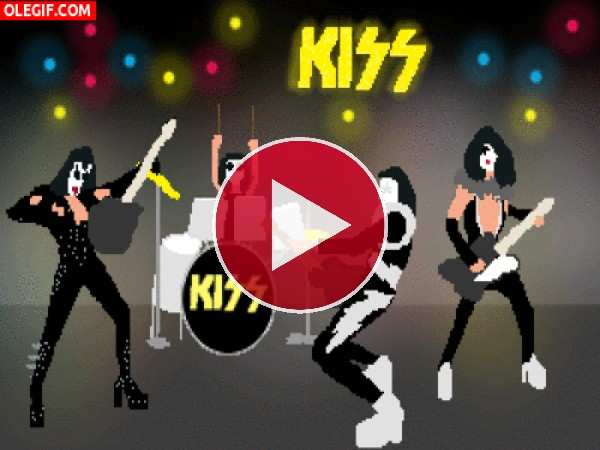 GIF: Kiss en un divertido concierto