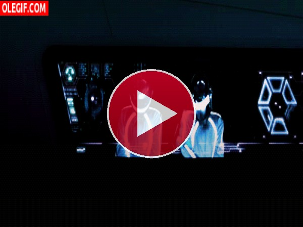 GIF: Daft Punk tocando en vivo