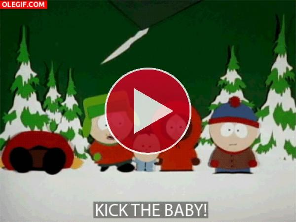 GIF: Lanzamiento de bebé