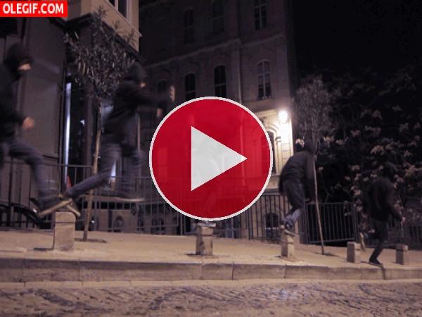 GIF: Saltando en la noche