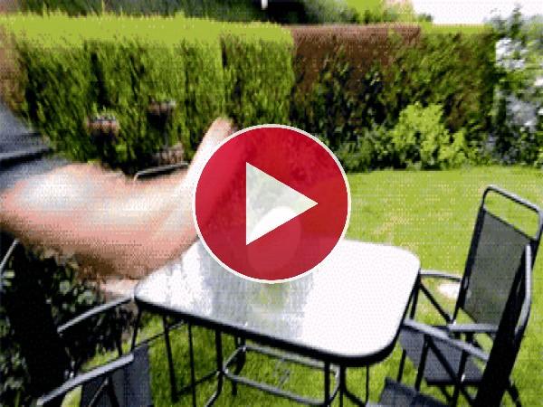 Genial forma de ponerse el gorro