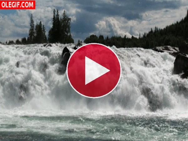 GIF: Corriente de un río