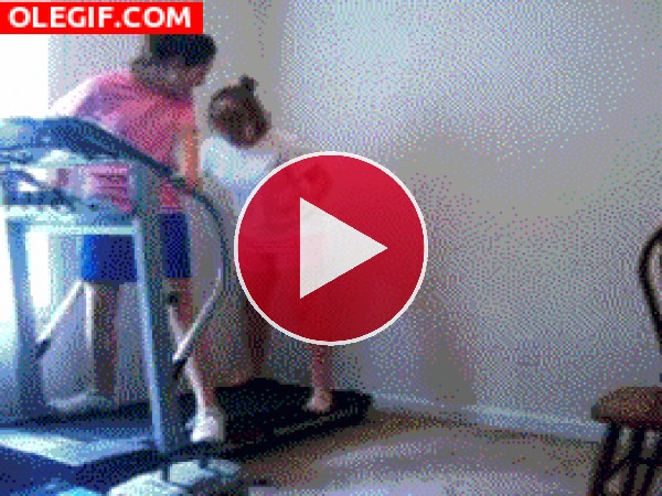 GIF: Rodando en la cinta de correr
