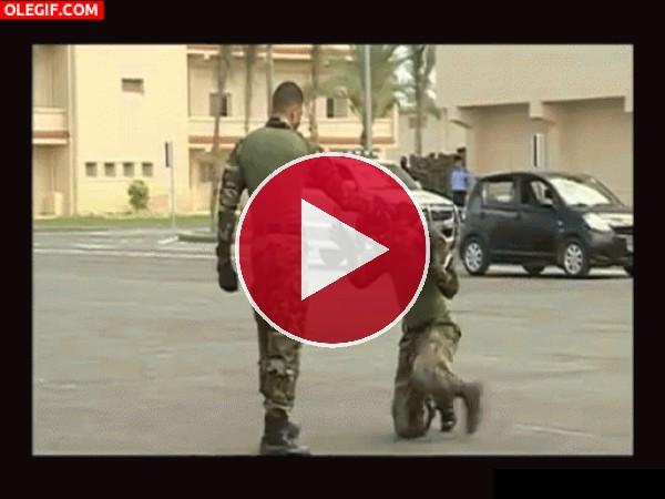 GIF: Soldados peleando