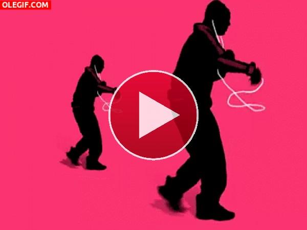 GIF: Bailando con el iPod