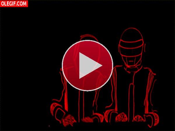 GIF: Animación de Daft Punk