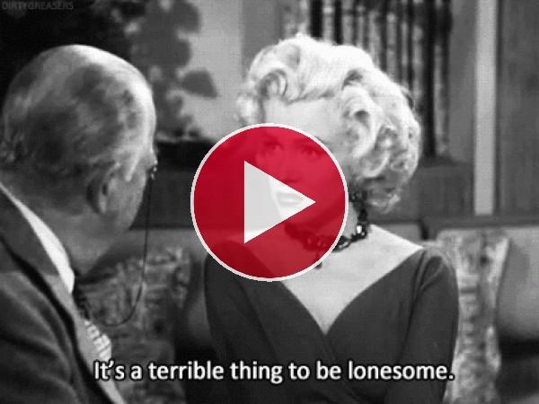 Marilyn Monroe en la escena de una película