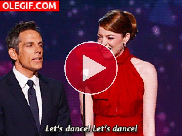 GIF: Emma Stone quiere bailar