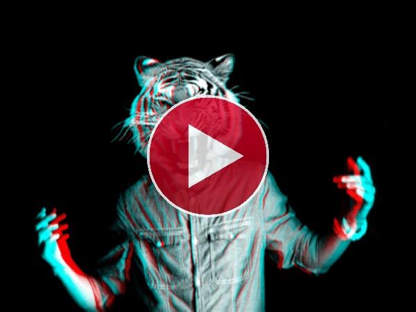 GIF: El hombre tigre