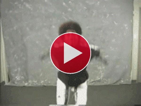 GIF: Se estampó haciendo la voltereta