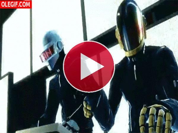 GIF: Luces y sonido con Daft Punk