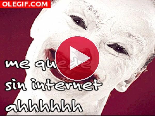 ¡Me quedé sin internet!
