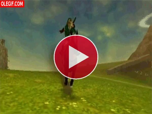 GIF: Link montando a caballo