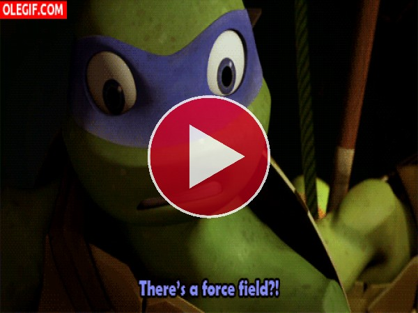 GIF: Esta tortuga Ninja no para de charlar
