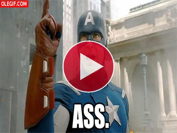 GIF: El Capitán América en plena batalla
