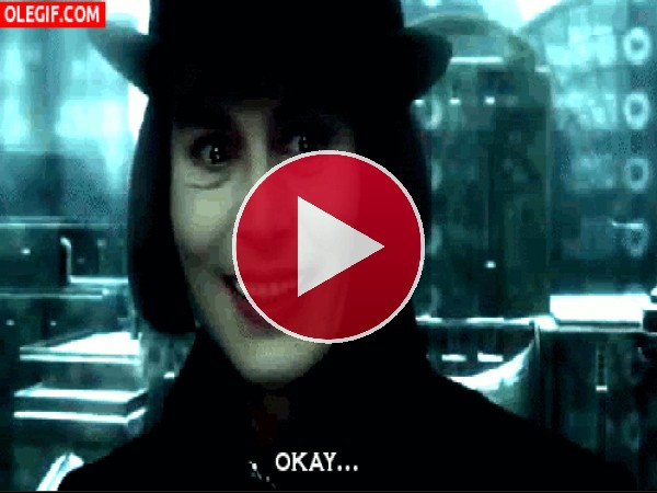 GIF: Willy Wonka se pone serio