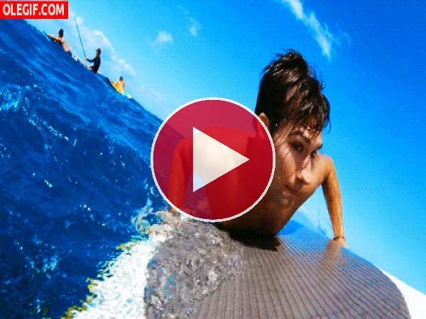 GIF: ¡Surfeando!