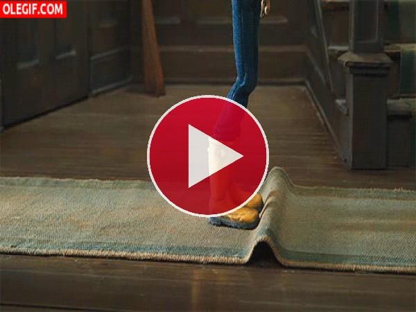 GIF: Bailando sobre la alfombra